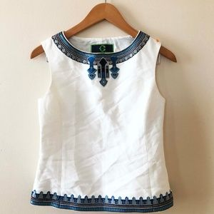 C. Wonder White Embroidery Shell Top